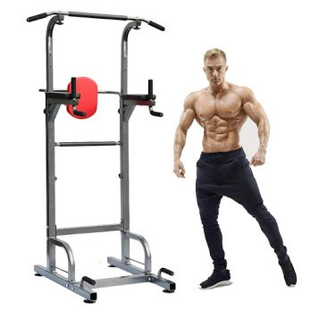 Power Tower Workout Dip Station, Adjustable Height Multi