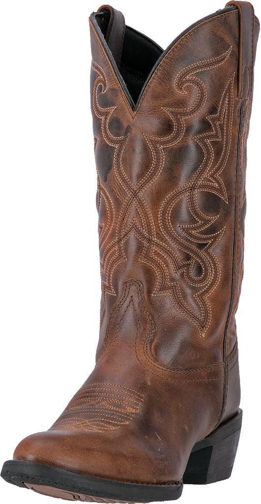 Laredo Western Boots Womens 11 Shaft Snip Toe CB Leather Rust 51114 by Laredo