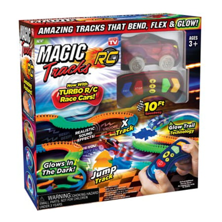 Magic Tracks RC with 10ft Racetrack and RC Red Racer, As Seen on