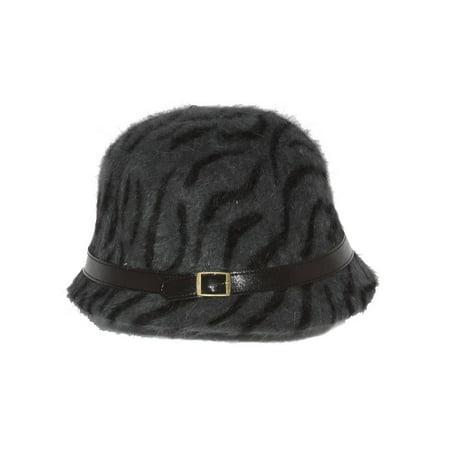 9a1463e9380d9 Ladies Angora Animal Print Cloche Hat, Dark Gray - image 1 of 1 ...