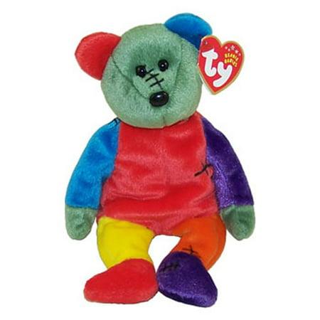TY Beanie Baby - FRANKENTEDDY Bear (Red & Purple Feet) (8.5 inch)