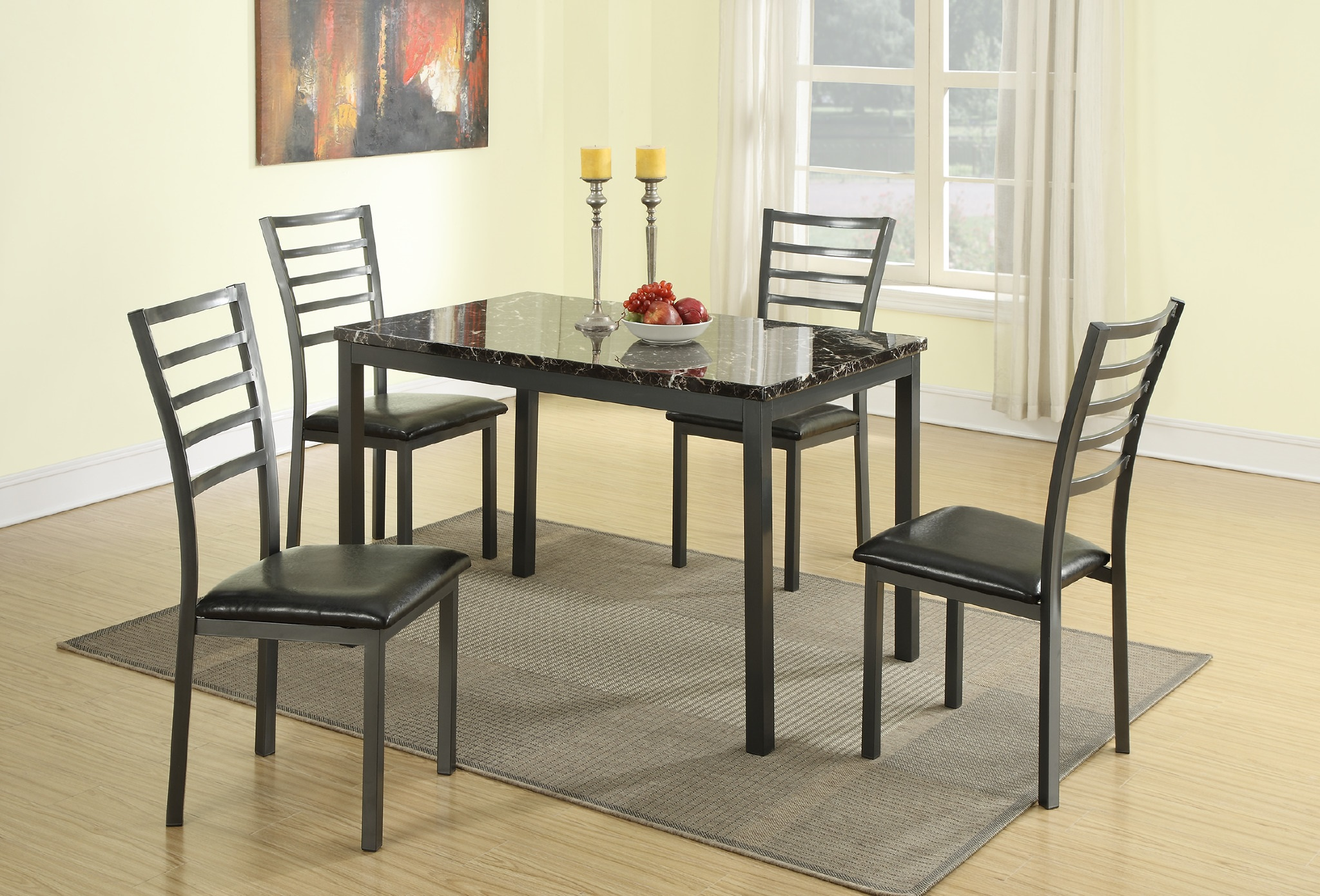 Metropolitan 5 PCs Metal Dining Table Set