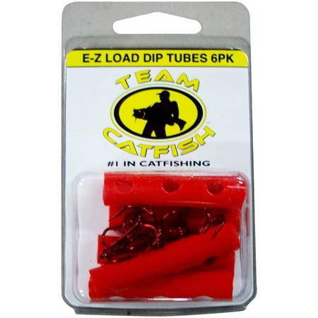 Team Catfish Red Dip Tube Treble Hook, Pack of 6 (Best Circle Hooks For Catfish)