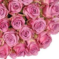 "Natural Fresh Flowers - Lavender Roses, 24"", 100 Stems"