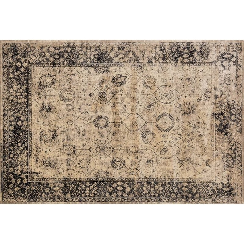 "Loloi Nyla 2'4"" x 7'9"" Rug in Beige and Smoke"