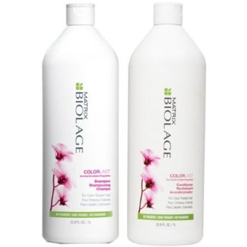 - Matrix Biolage COLORLAST Shampoo and Conditioner Liter Duo, 33.8 Oz Each