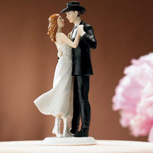 """Weddingstar 8514 """"A Sweet Western Embrace"""" Cake Topper"""