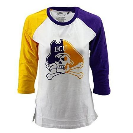 Pressbox Women' s Juniors NCAA ECU East Carolina Pirates Long Sleeve Shirt Reverse