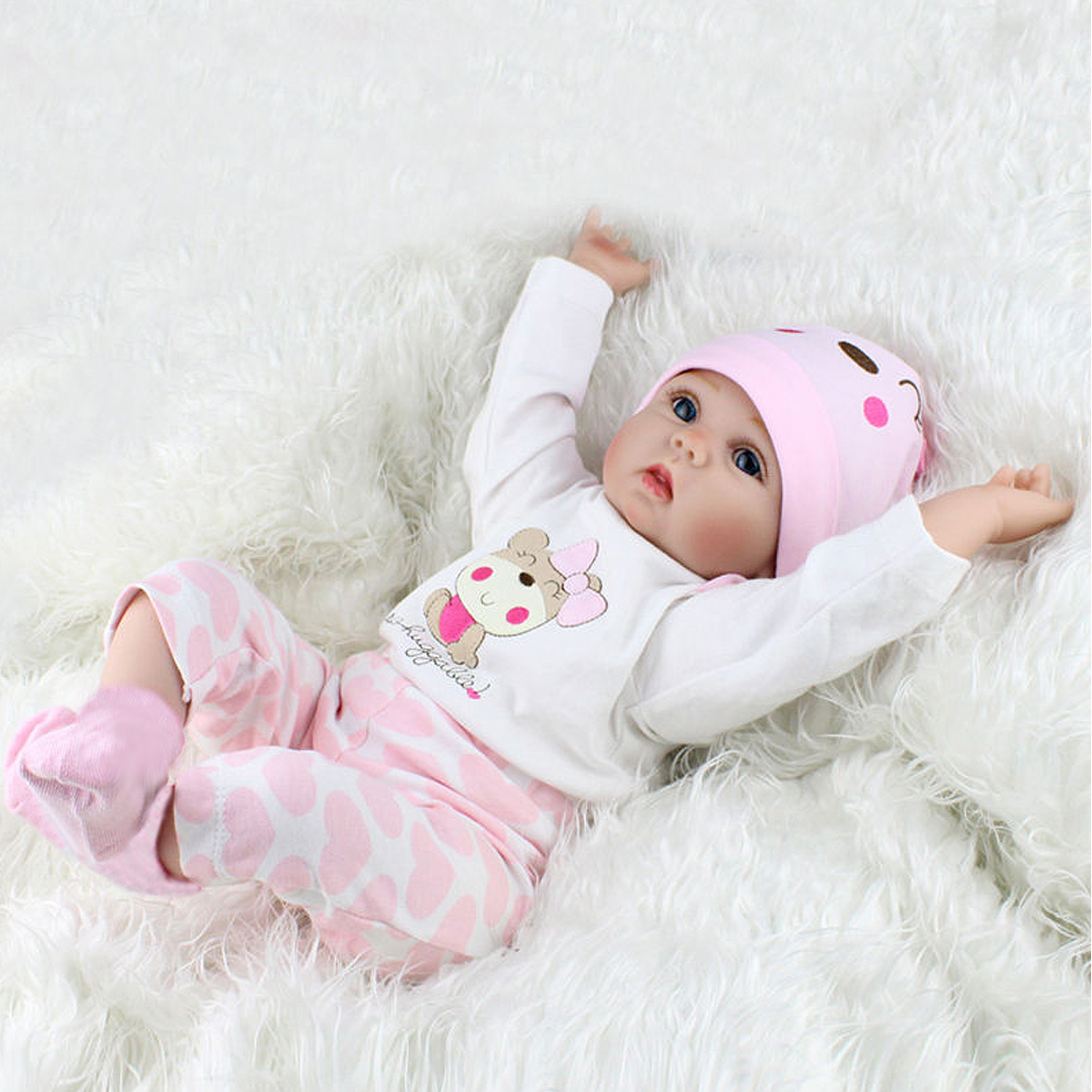 Reborn Baby Dolls Vinyl Silicone Belly Doll Like Real Life Baby Birthday Gift
