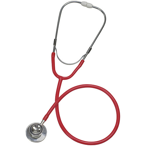 Mabis Spectrum Dual Head Stethoscope, Red