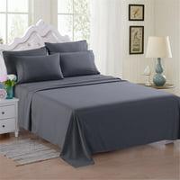 6-Piece Soft Microfiber Bed Sheet Set