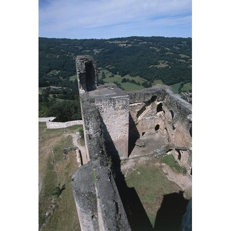 The Walls Seen from the Dungeon of Chateau of Najac, 1253, Midi-Pyrenees, France Print Wall Art](Dungeon Wall)