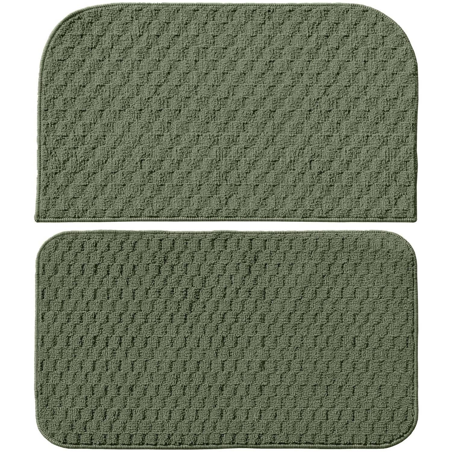 Garland Rug Town Square 2pc Kitchen Rug Slice And Mat, ...