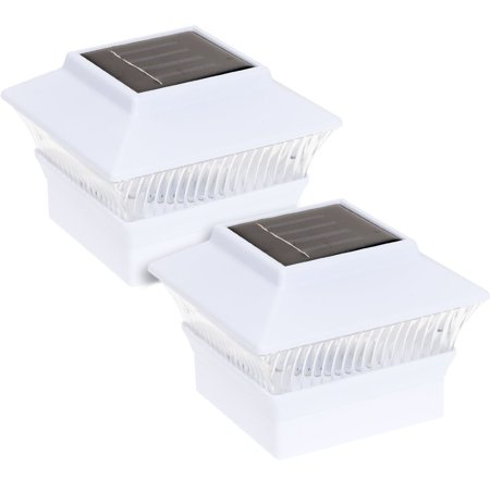 Reusable Revolution Solar Powered 4 x 4 LED Post Cap Light (White, 2 Pack) ()