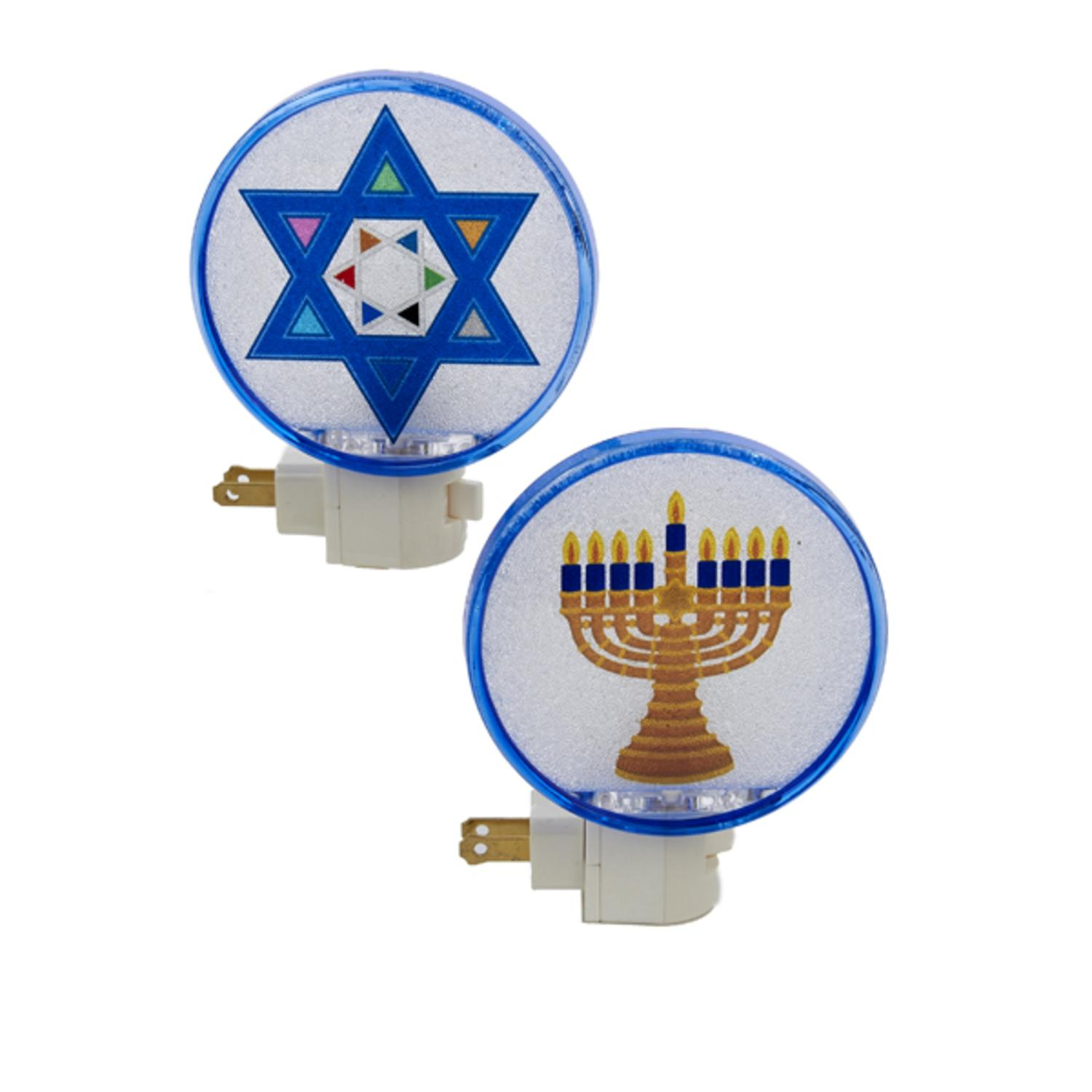 "5"" Beaded Hanukkah Star of David Festive Holiday Night Light by Kurt Adler"