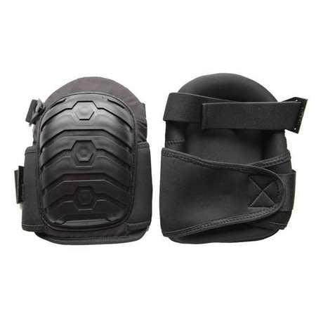 Westward 12F682 One Size Fits All Black Knee Pads ()