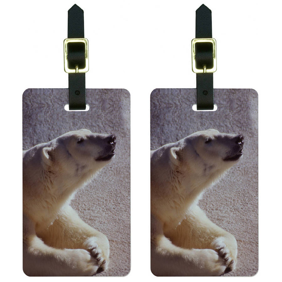 Polar Bear Luggage Tags Suitcase Carry-On ID, Set of 2