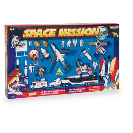 Daron Worldwide Trading  RT38148K Space Mission 28 Piece Playset with Kennedy Space Center Sign Daron Worldwide Trading Diecast Vehicle