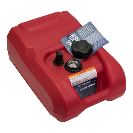 Attwood Gallon Fuel Tank with Gauge, EPA Compliant