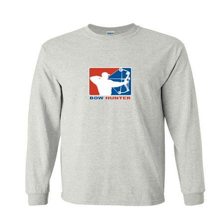 Long Arrow Body - Bow Hunter Major League Bows and Arrow Hunting Long Sleeve T-Shirt