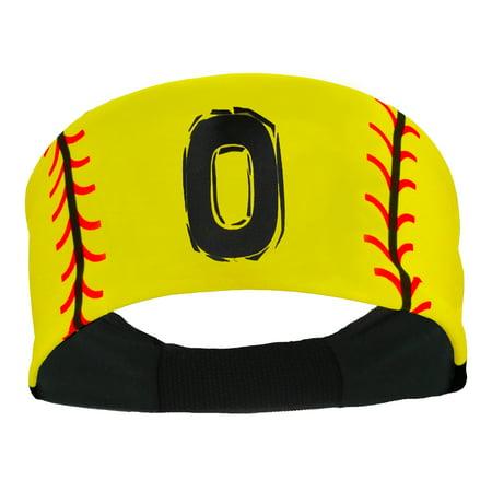 Player ID Softball Stitch Headband (Yellow, #0) - #0,Yellow