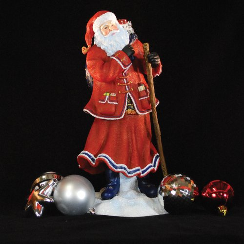 Precious Moments ''Pere Noel of Paris'' Limited Edition Santa with Blue Bag of Toys Figurine