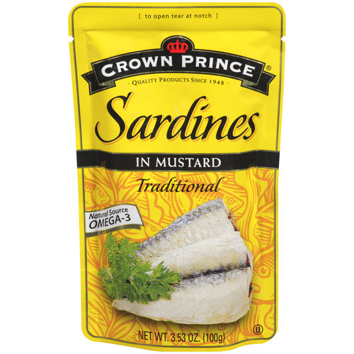 Crown Prince Sardines in Mustard, 3.53 oz