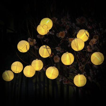 Lantern string lights 30 led fairy decorative solar string lights lantern string lights 30 led fairy decorative solar string lights lanscape outdoor globe string mozeypictures Choice Image