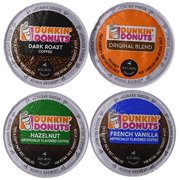 Dunkin' Donut Coffee K-Cups, Variety Pack (Original Blend, Dark Roast, Hazelnut, French Vanilla) 20 Count