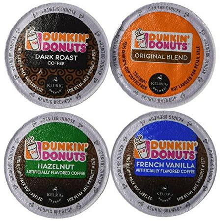 Variety Blend Sticks - Dunkin' Donut Coffee K-Cups, Variety Pack (Original Blend, Dark Roast, Hazelnut, French Vanilla) 20 Count