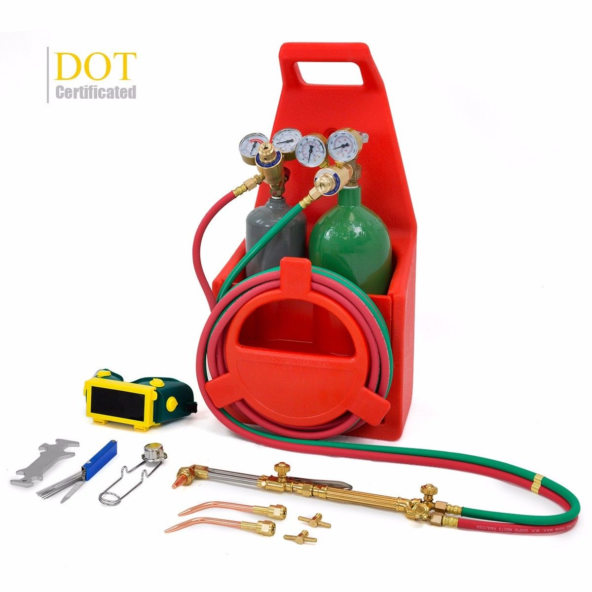 Stark DOT Tote Oxygen Acetylene Oxy Welding Cutting Torch Kit