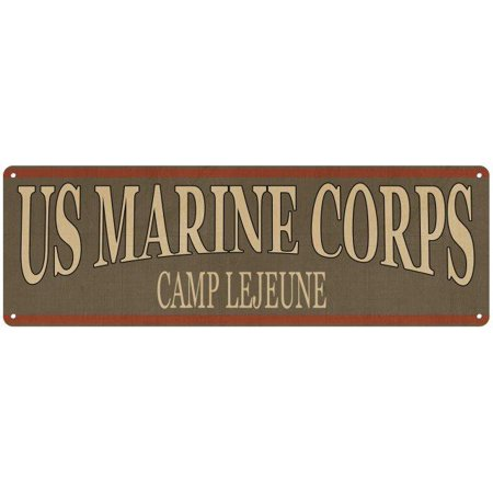 - Camp Lejeune Marine Corps Vintage Look Clearn Metal Sign 6x18 Old Advertising Man Cave Game Room M6181074