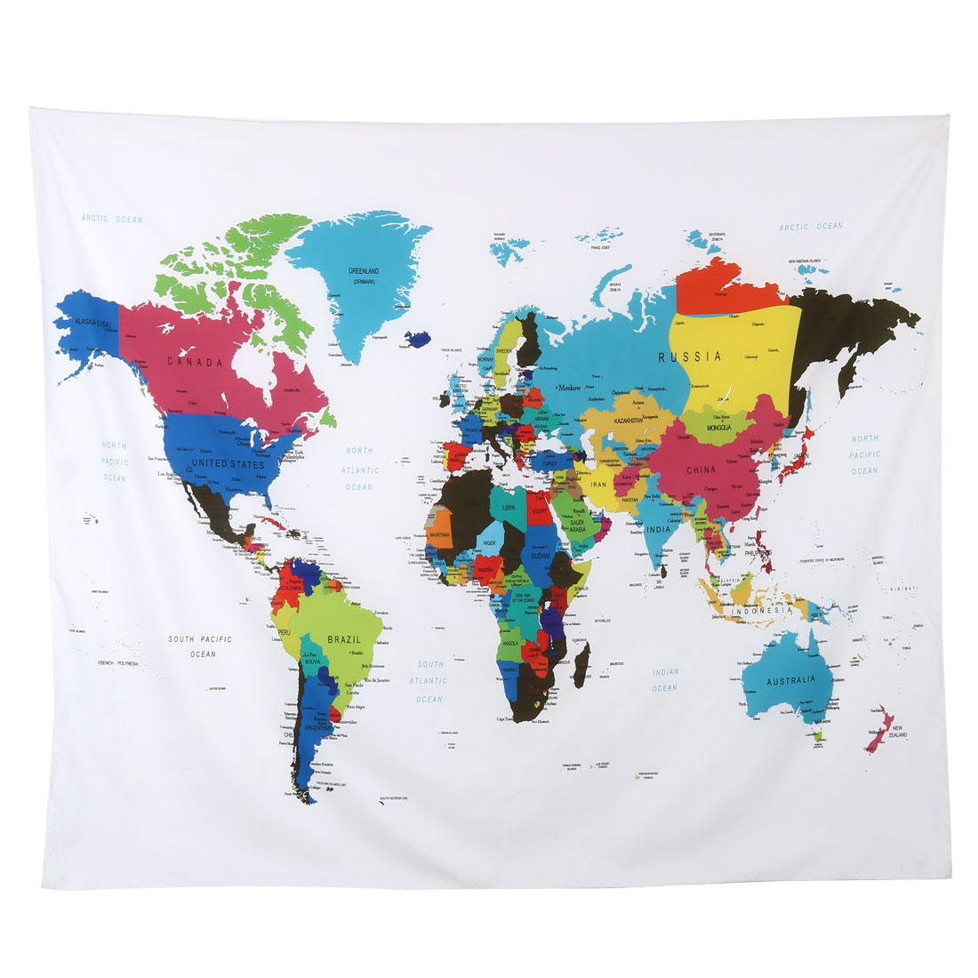 Unique Bargains Outdoor Polyester Map Print Folding Picnic Beach Blanket Mat 1.5M x 1.3 Meters