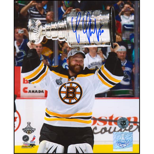 AJ Sports World THOT102032 TIM THOMAS Boston Bruins SIGNED 2011 Stanley Cup 16x20 Photo