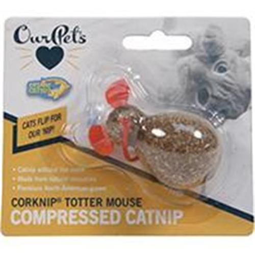 OurPets Corknip All-Natural Compressed Catnip, Totter Mouse Cat Toy