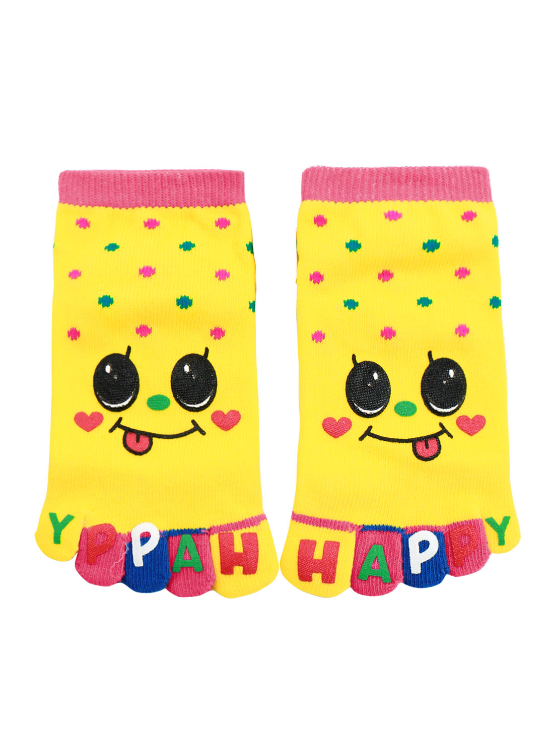 Unisex Dots Pattern Stretchy Ankle Length Toe Socks
