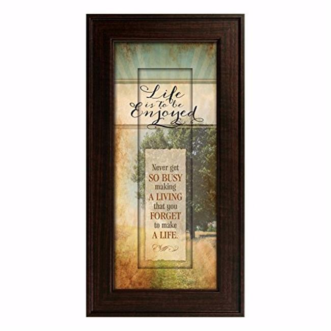 James Lawrence 70745 Words of Grace - Life Is to Be Enjoyed Frame Art