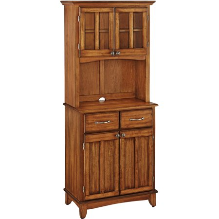 Home Styles Small Buffet With Two-Door Hutch, Cottage Oak Finish