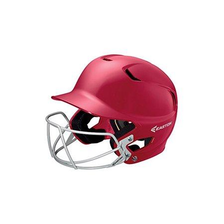 - New Easton Z5 Batting Helmet Baseball Junior Red/Silver Facemask 6 3/8