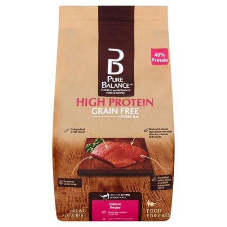 Pure Balance High Protein Grain Free Formula Salmon Recipe Food for Cats, 7