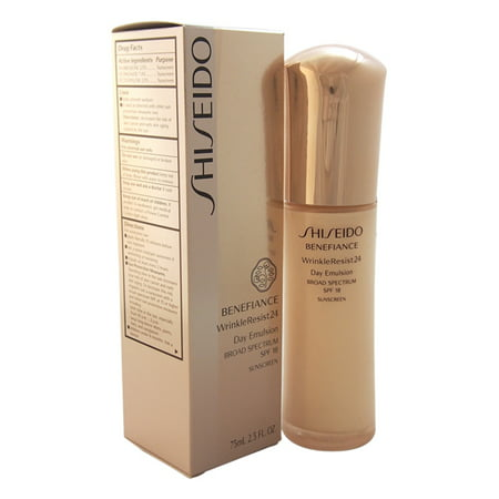 Benefiance WrinkleResist24 Day Emulsion SPF 18 by Shiseido for Unisex, 2.5 Oz