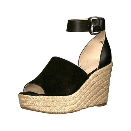 Marc Fisher Womens Cala Leather Peep Toe Ankle Strap Wedge Pumps Ankle Strap Leather Wedges