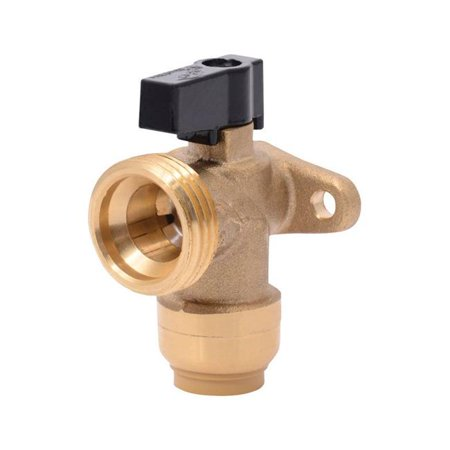 Rowe 3/4 Inch Concealed Wall Valve - sharkbite 25560lfa washing machine angle valve, 1/2 inch x 3/4 inch mht garden hose valve, push-to-connect copper, pex, cpvc, pe-rt pipe