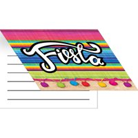 """Club Pack of 48 Vibrantly Colored """"Fiesta"""" Serape Pattern Fold-over Invitation 6.7"""""""