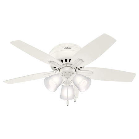 42 Quot Hunter Newsome Low Profile With 3 Light Kit Fresh White Ceiling Fan With Light Kit Walmart Com