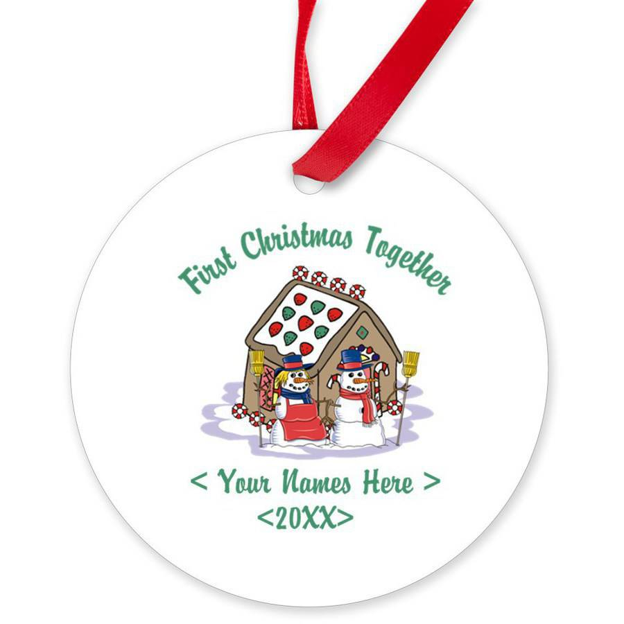 CafePress Personalized First Christmas Together Round Ornament