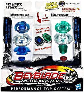 Beyblade Metal Masters Rex Wreck Attack 2-Pack