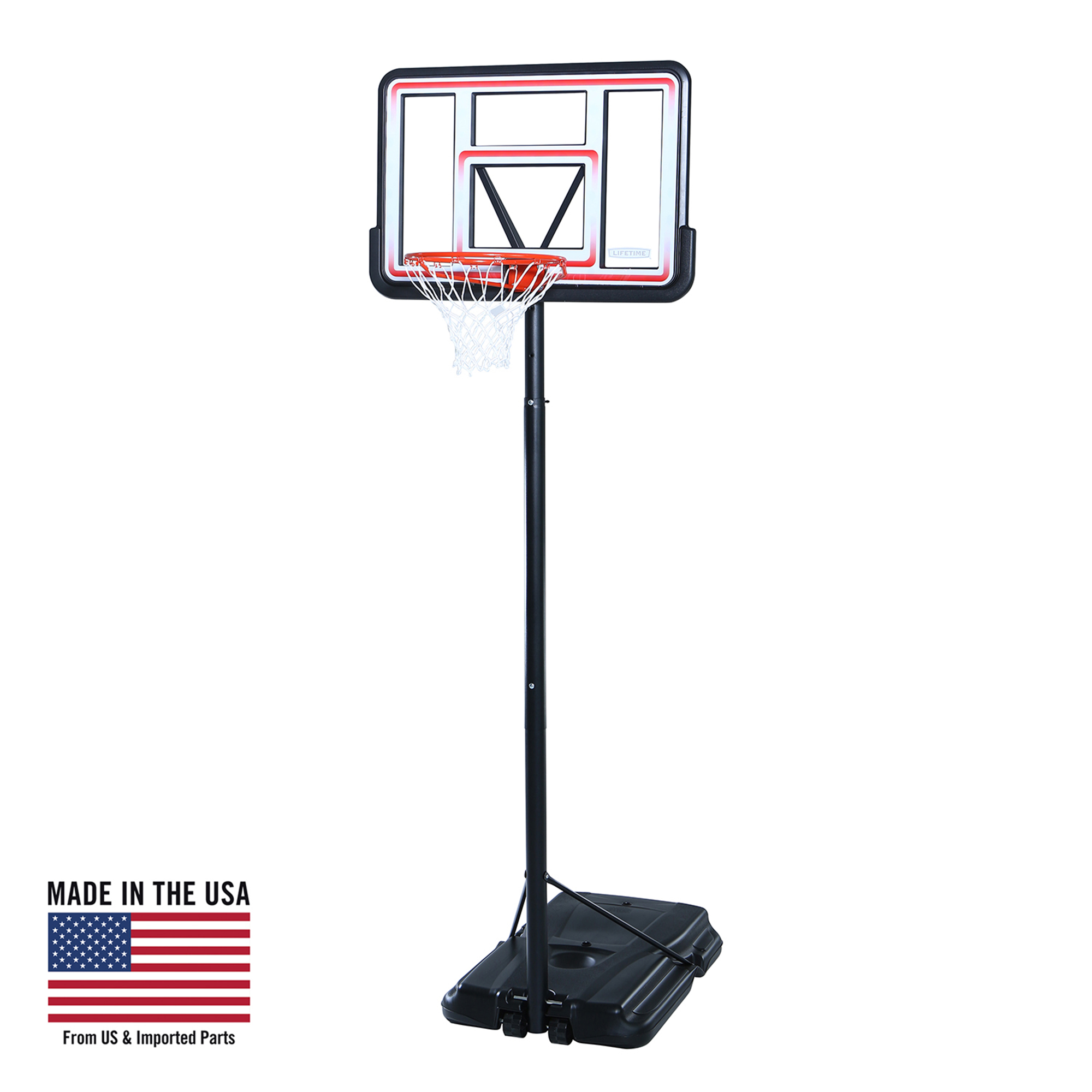 "Lifetime 44"" Pro Court Portable Basketball System, 1269"