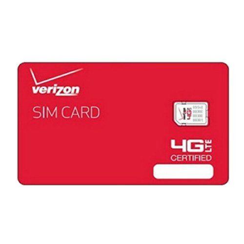 Lot of 10 New Verizon Wireless Nano Sim Cards 4FF-A 4G LTE NFC