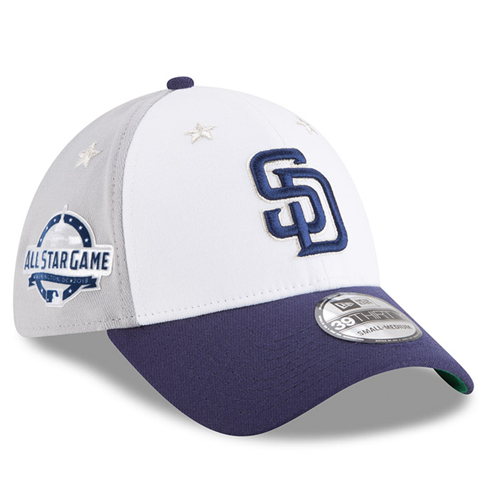 San Diego Padres New Era 2018 MLB All-Star Game 39THIRTY Flex Hat - White/Blue